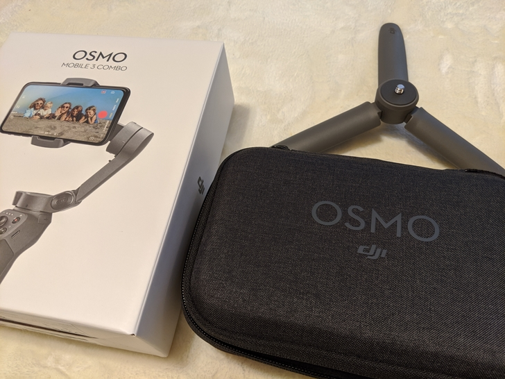 osmo mobile3 comboのキャリーケースと三脚スタンド